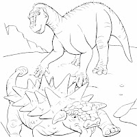 Iguanodonte y anquilosaurio