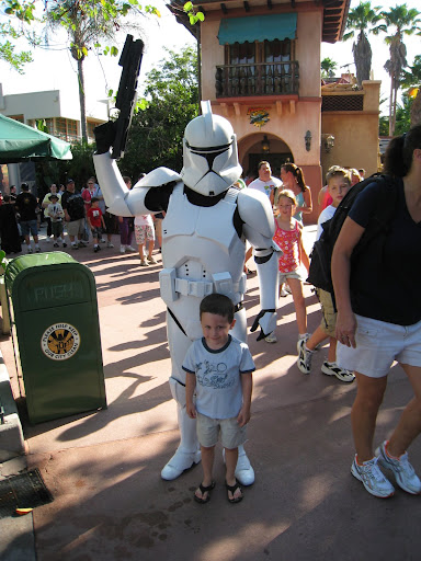 Eli posing with a Clone Trooper.