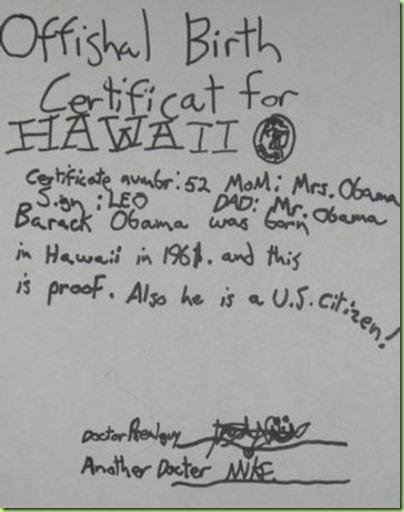 hawaian birthcertificate