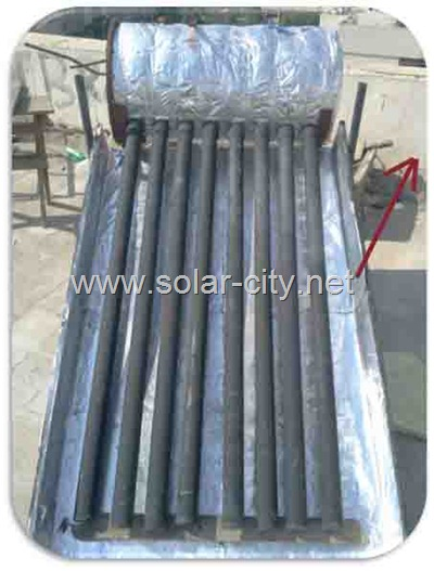 homemade solar water heater collector