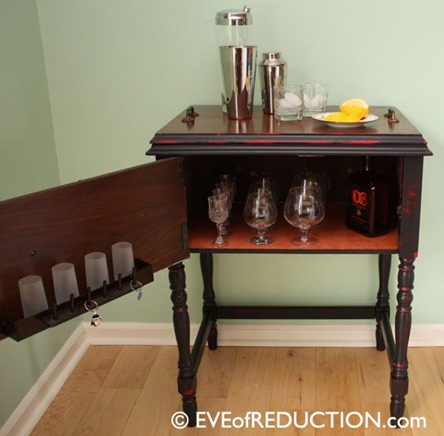 Red Side Table Repurposed Sewing Cabinet My Repurposed Life
