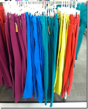 Bright Colored Denim at Target