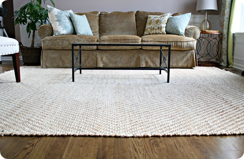 pottery barn jute rug
