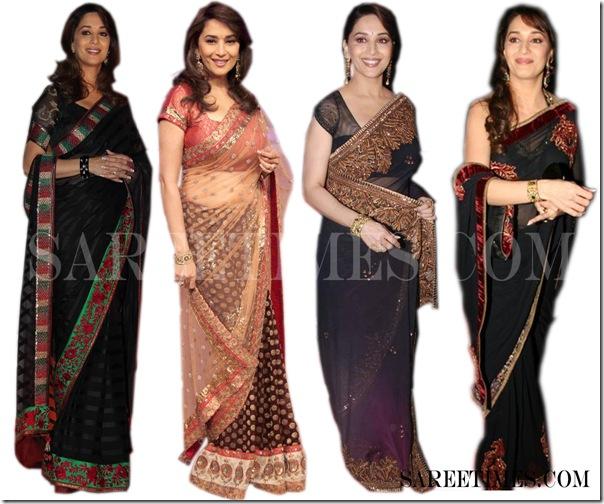 Madhuri_Dixit_Black_Saree_Fashion1