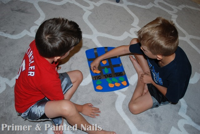Tic Tac Toe Board Play 2 - Primer & Painted Nails