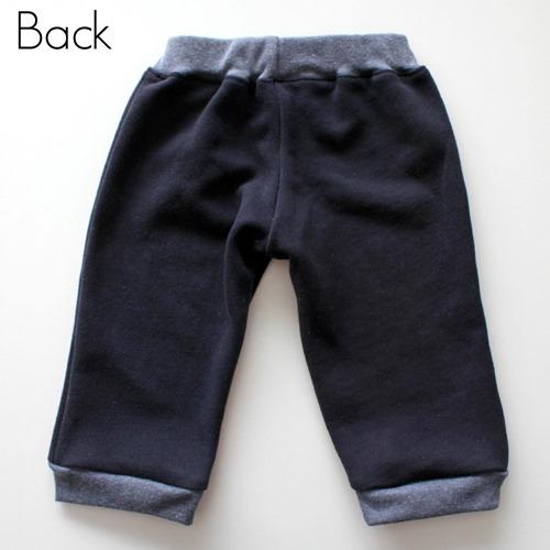 Navy track pants back