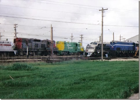 Illinois Terminal GP7 #1605 at the Illinois Railway Museum on May 23, 2004