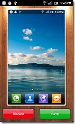 يقوم التطبيق بعرض الصور الملتقطة حيث يمكنك حفظها أو مسحها