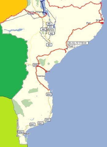 Mapa Moz
