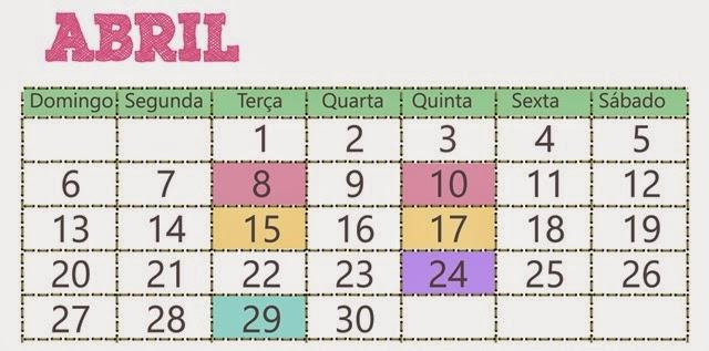 2014-04 calendário