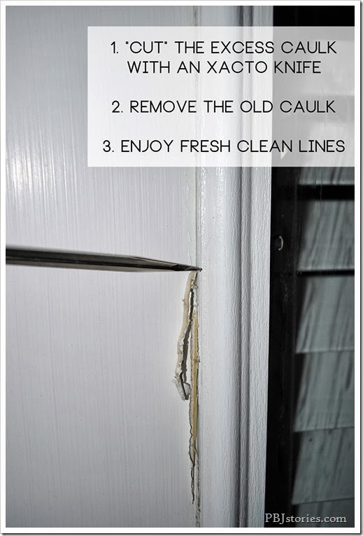 Steps to fixing old messy caulk on doors