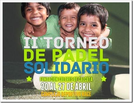 II Torneo de Pádel Solidario por Colores de Calcuta FMP del 20 al 27 de abril 2014.