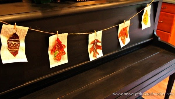 Leaf Banner #glitter #banner #hotglueprojects