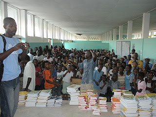 Book Distribution - La Gonave Haiti