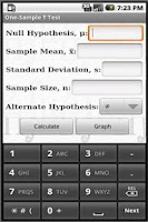 Screenshot of StatsPac - Graphing Calculator