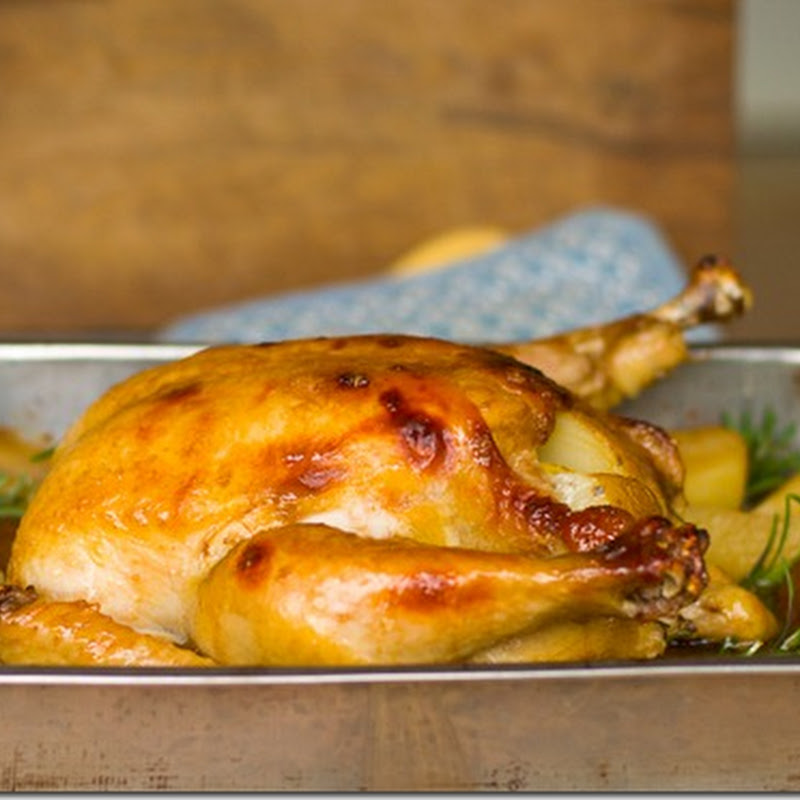 Lemon-Honey roasted Chicken