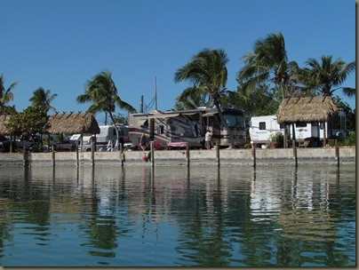 campground view from water at geiger key marina