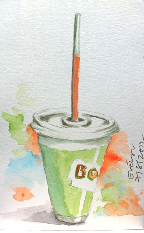 Boost Juice Sketch