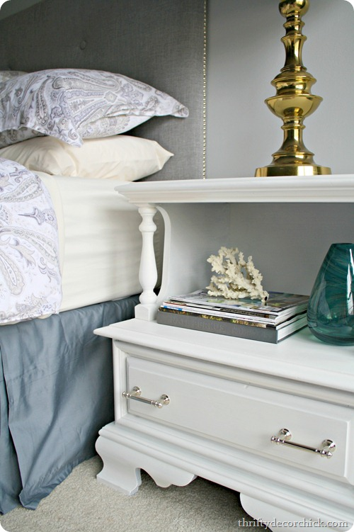 dark wood nightstand redo