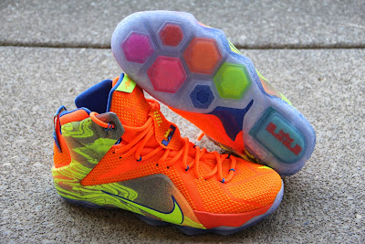 nike lebron 12 gr orange silver yellow 2 06 A Detailed Look at the Orange / Volt Nike LeBron 12 Nerf