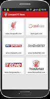 Screenshot of Liverpool Football News