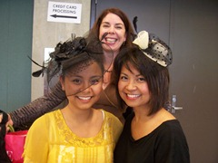 Ladies showing off their hats at Thread Show Seattle