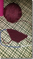 knit shawl beginning