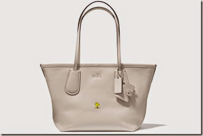 Peanuts X Coach chalk white tote bag