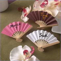 Mini Paper Fan Wedding Place Cards - Pack of 12