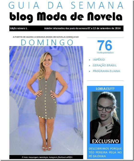 capa da revista Guia da Semana do blog Moda de Novela edição 001