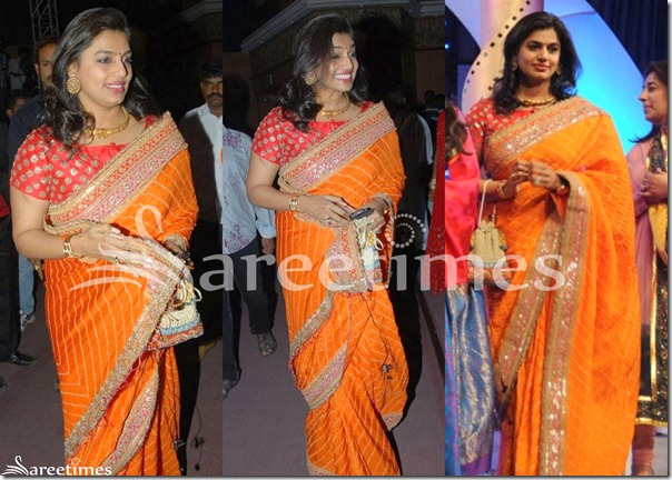 Pinky_Reddy_Orange_Saree