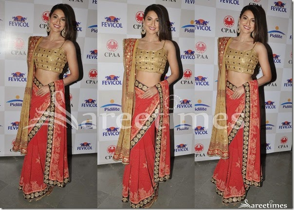 Shaina_NC_Red_Georgette_Saree