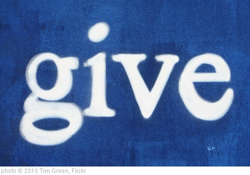 &#39;give&#39; photo (c) 2010, Tim Green - license: http://creativecommons.org/licenses/by/2.0/