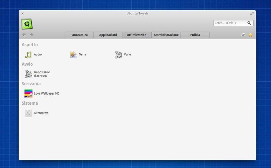 Ubuntu Tweak in elementary OS - Ottimizzazioni