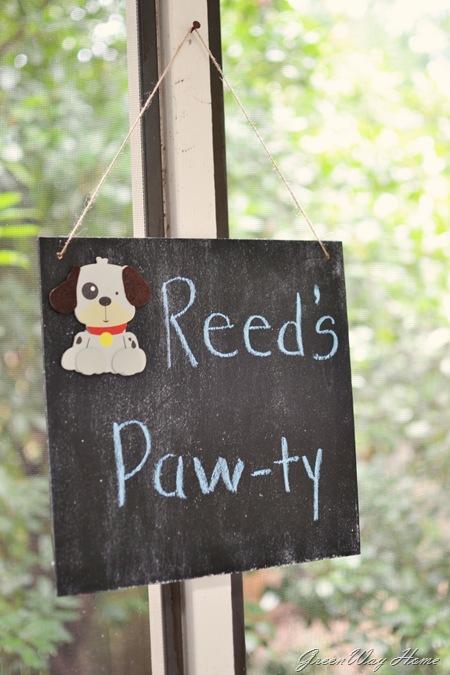 Reeds Pawty Sign