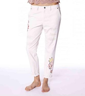 #587 Peace army pants  chalk 1