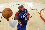 lebron james nba 130217 all star houston 41 game 2013 NBA All Star: LeBron Sets 3 pointer Mark, but West Wins