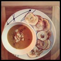 Day #3 - Roast apple and squash soup with baked apple crisps