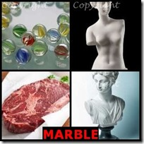 MARBLE- 4 Pics 1 Word Answers 3 Letters