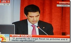Vitor Gaspar volta a dizer o que dizia. Out.2012