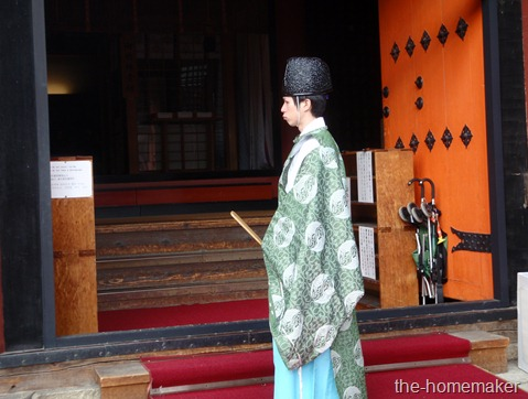 Shinto Priest @ Yasaka Shrine, Kyoto