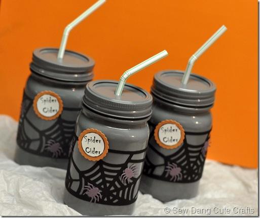 Spider Cider Jars White
