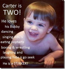 carter is two