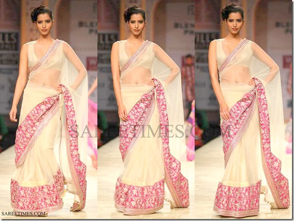 Manish_Malhotra_Cream_Saree