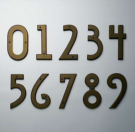 These aren't just any old house numbers. Make your neighbors house stand-out with with these gorgeous solid brass art-deco pieces. (restorationhardware.com)
