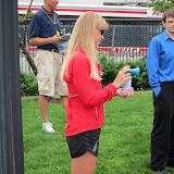 Joanne Dow started the Junior Women's 5K Race Walk.