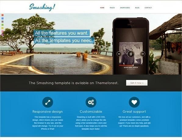 10 nuevos ejemplos de plantillas hechas con Bootstrap 1