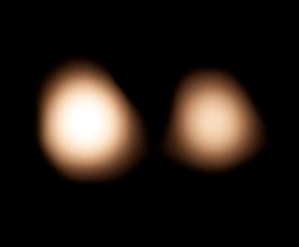 observações ALMA de Plutão e Caronte