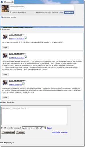 komentar blog dibawah post