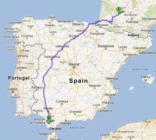 Gers to Medina-Sedonia via Salamanca
